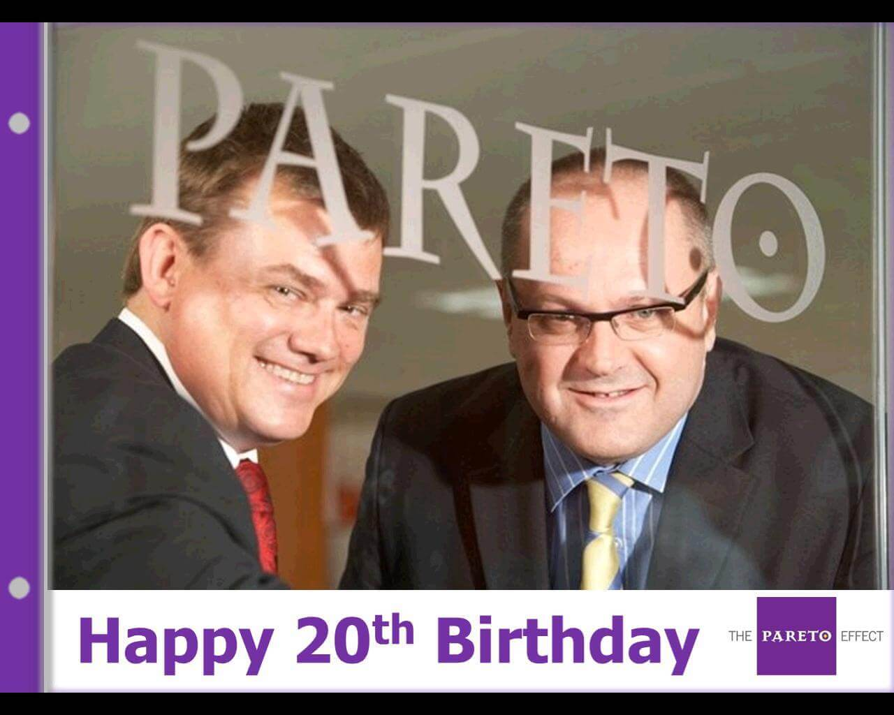 Andrew Sawer and Jonathan Fitchew celebrate 20 years of Pareto Law