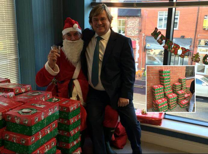 "CEO Jonathan with ""Santa"", Bryn Thompson"