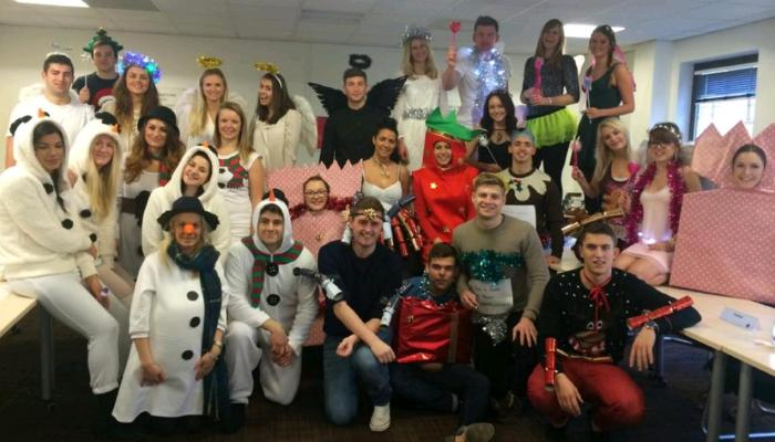 Pareto's London Chiswick office don festive outfits for Charity