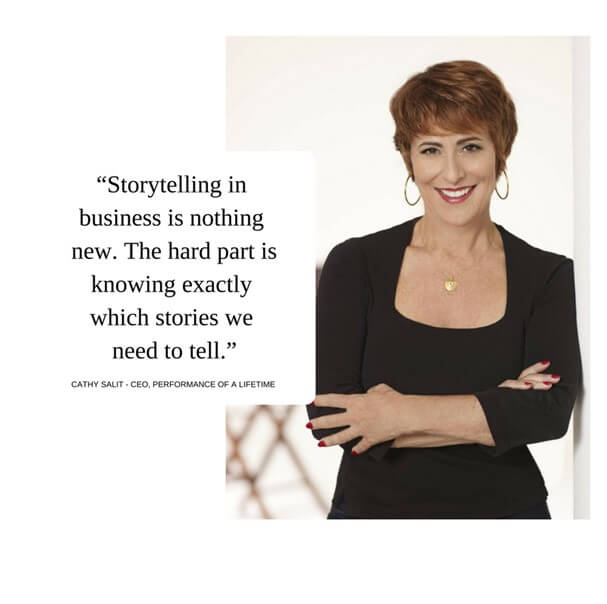 Quote about value of storytelling in sales.